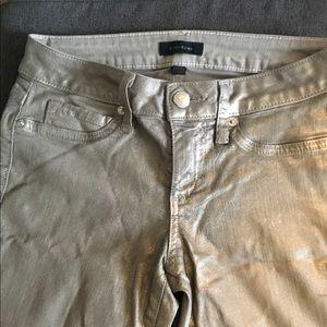 Bebe golden/shimmer coated skinny jeans